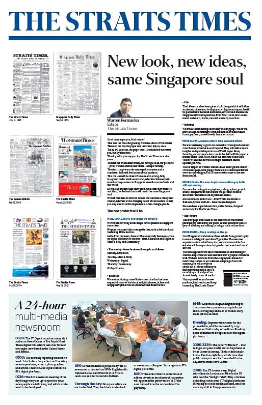 Click To View The Revamp Supplement Of The Straits Times On July