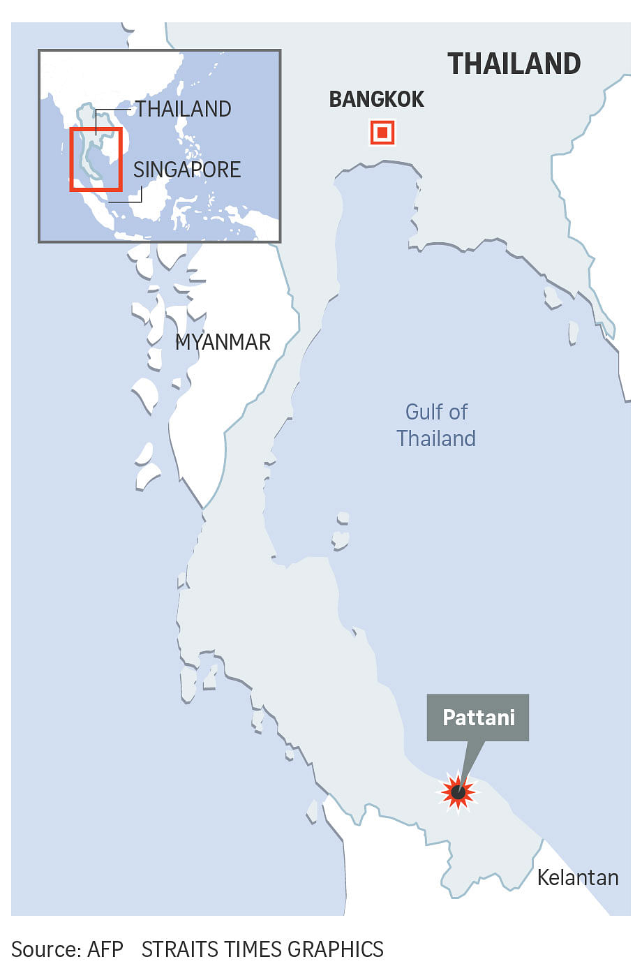 Pattani Thailand Map.Thai Junta Rules Out Link Between Latest Bombings And Earlier Deadly