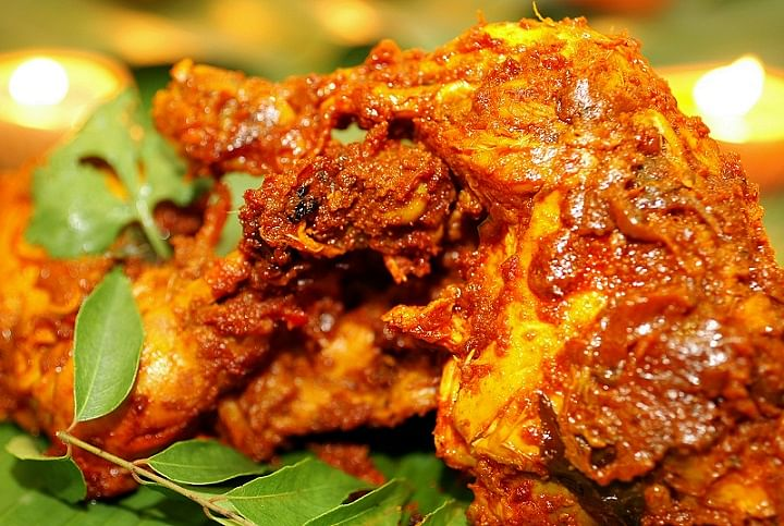 Chettinad chicken from Samy's Curry.