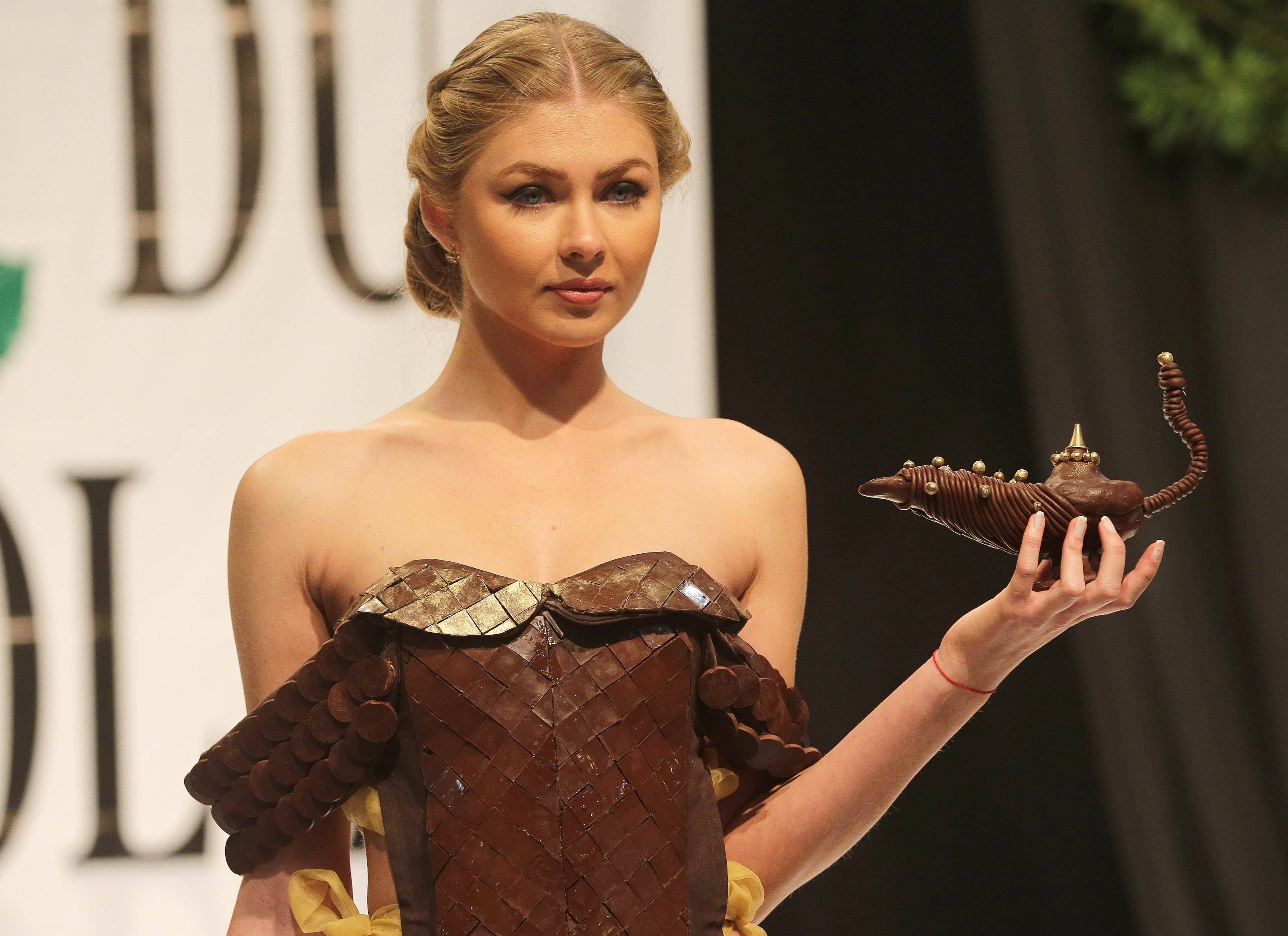 In Pictures: Edible chocolate outfits at the Chocolate ...