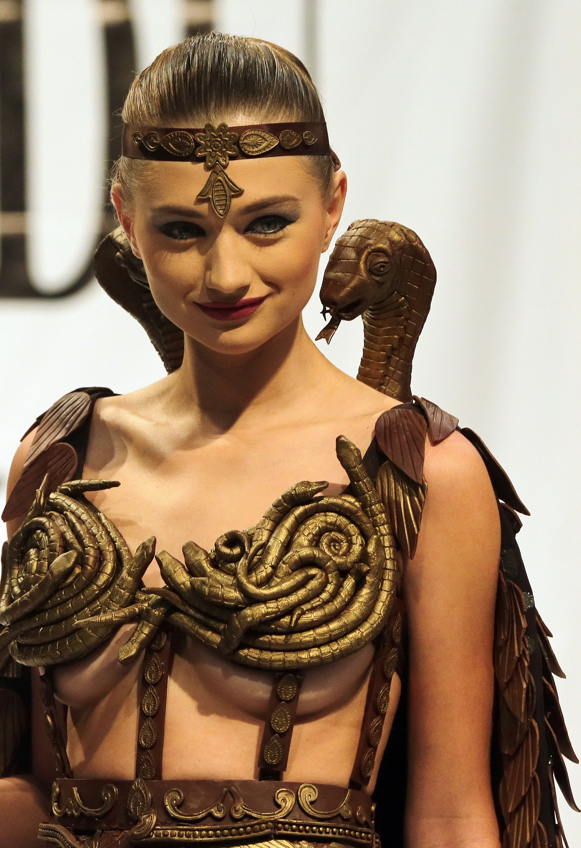 In Pictures: Edible chocolate outfits at the Chocolate Fashion ...