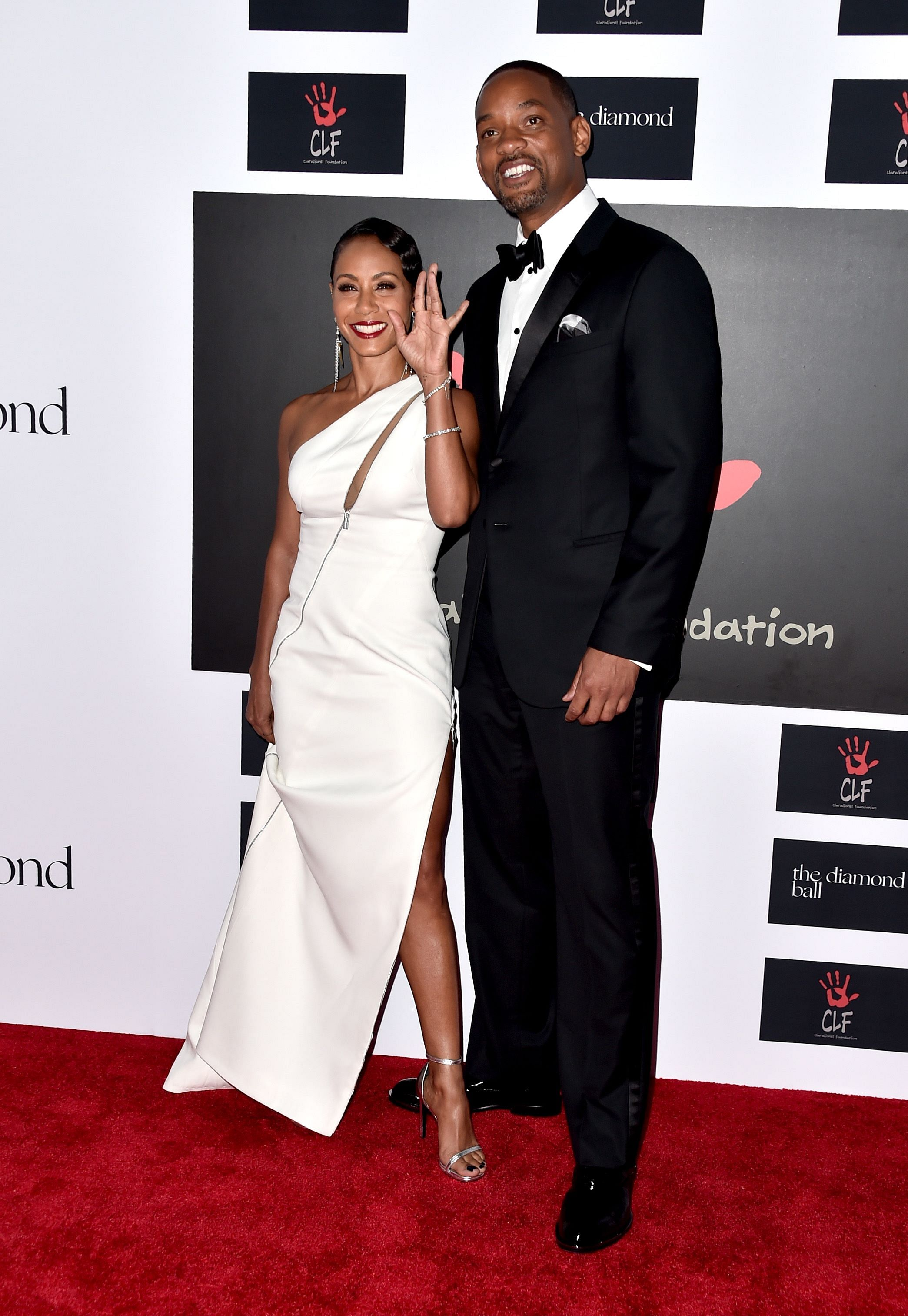 9472443b7a7c Actors Jada Pinkett Smith and Will Smith attend the second annual Diamond  Ball fundraising event on Dec 10, 2015. PHOTO: AFP