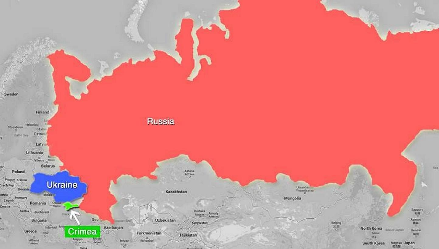 Ukraine And Russia Map.Ukraine Crisis A Reminder That Small Countries Must Defend