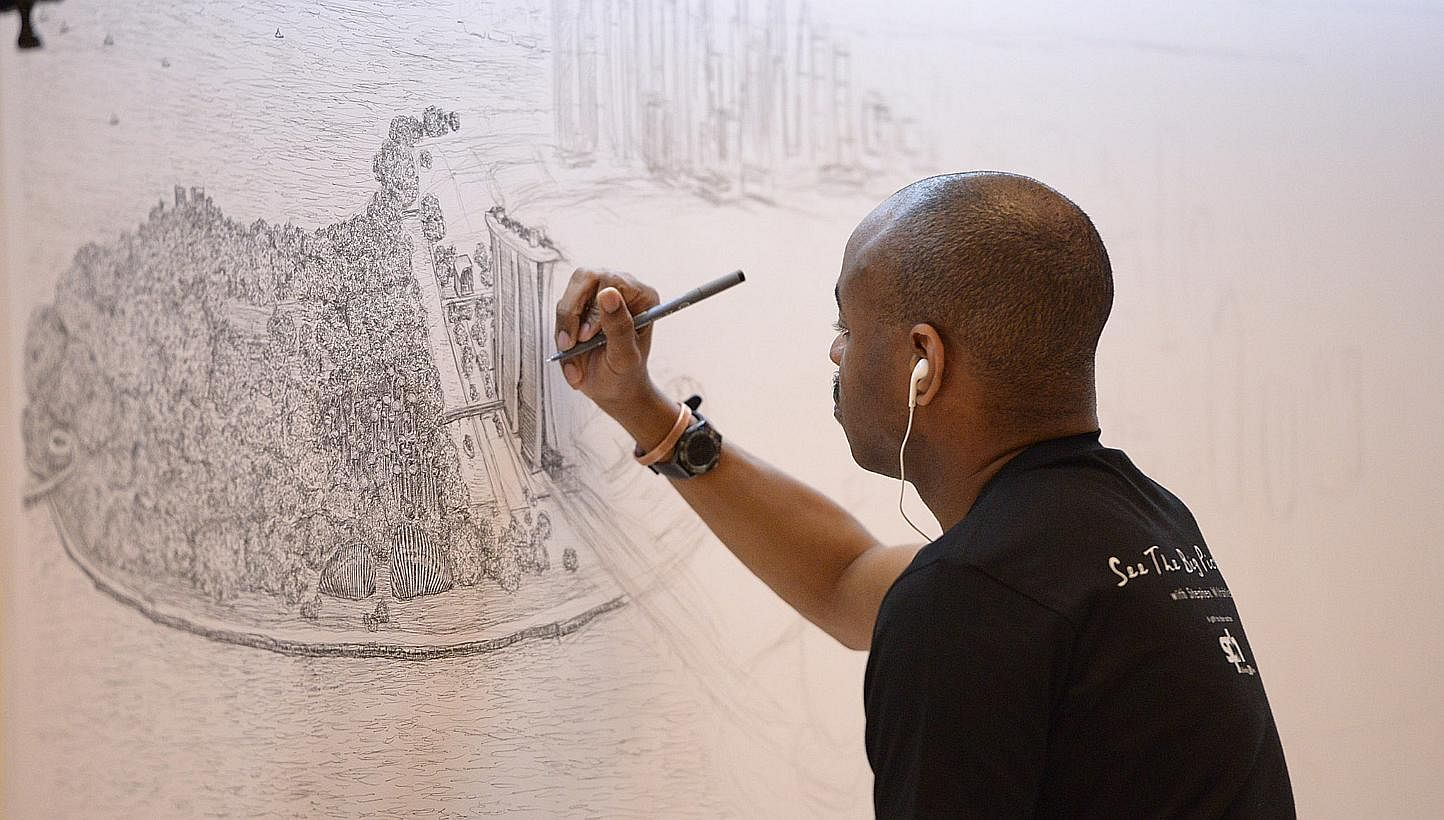 Artist With Autism Illustrates >> British Artist Stephen Wiltshire Draws Singapore From Memory