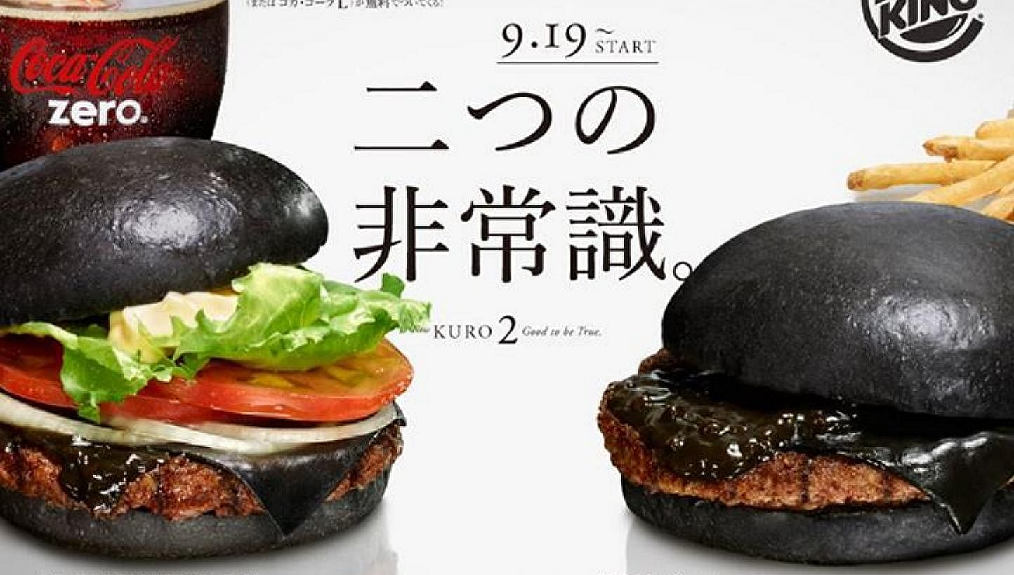 Burger King in Japan introduces black burger with \'bamboo charcoal ...