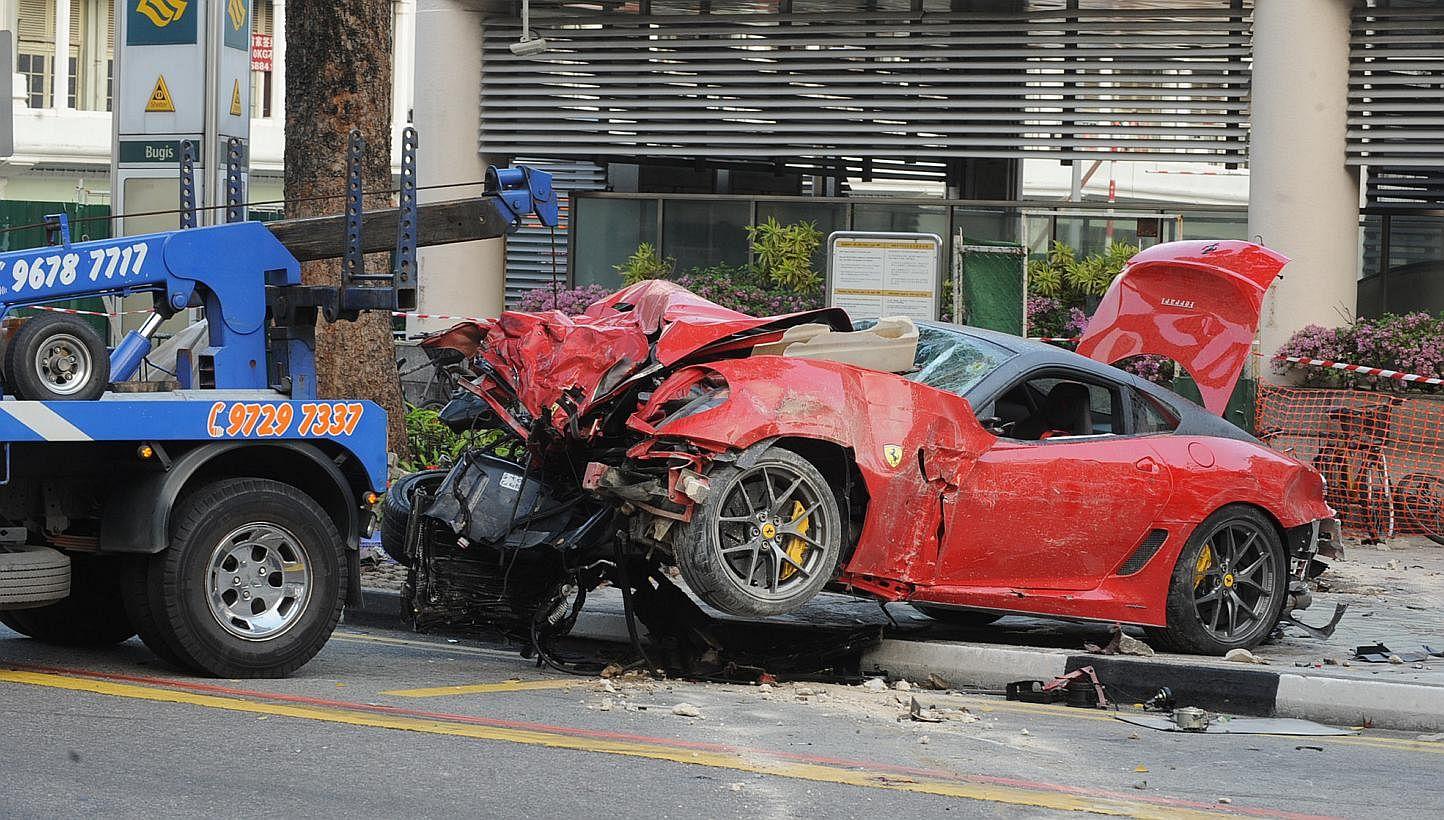 Ferrari Crash Parents Of Victim Seek 700k From Driver S Estate Courts Crime News Top Stories The Straits Times