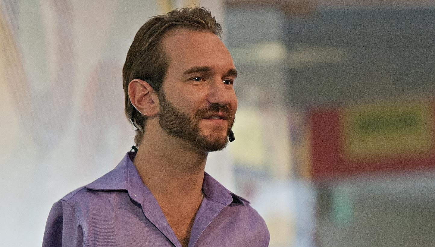 questions nick vujicic he used to be jealous of people 8 questions nick vujicic he used to be jealous of people hugging his son lifestyle news top stories the straits times
