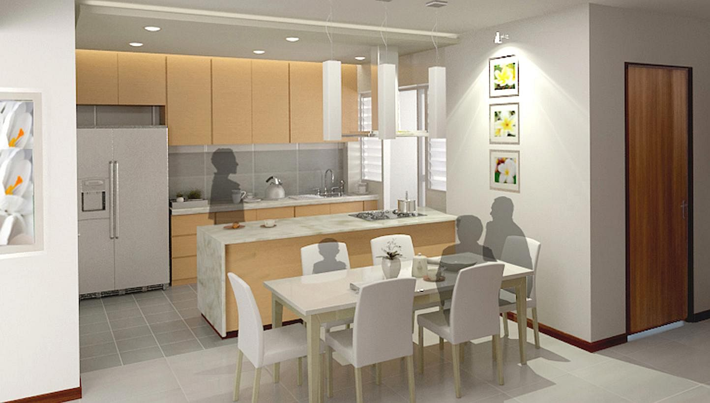 Open Kitchen Partition 6 In 10 Bto Flat Buyers Opt For Open Kitchens Housing News Top