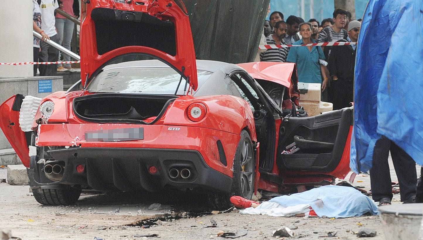 Ferrari Crash Victim S Parents Settle With Driver S Insurer Courts Crime News Top Stories The Straits Times