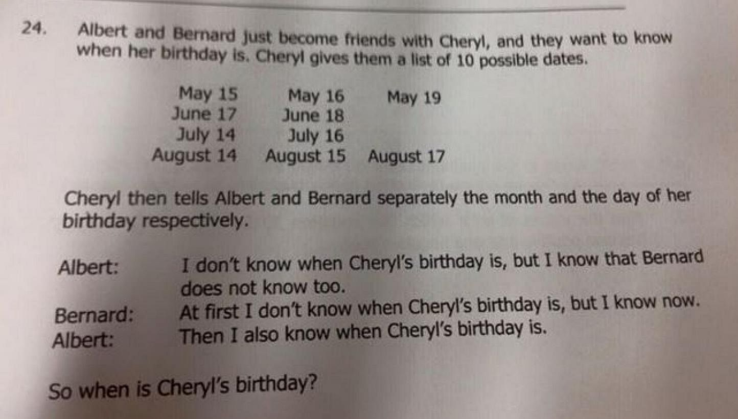 Primary 5' maths question turns out to be Sec 3 Math Olympiad
