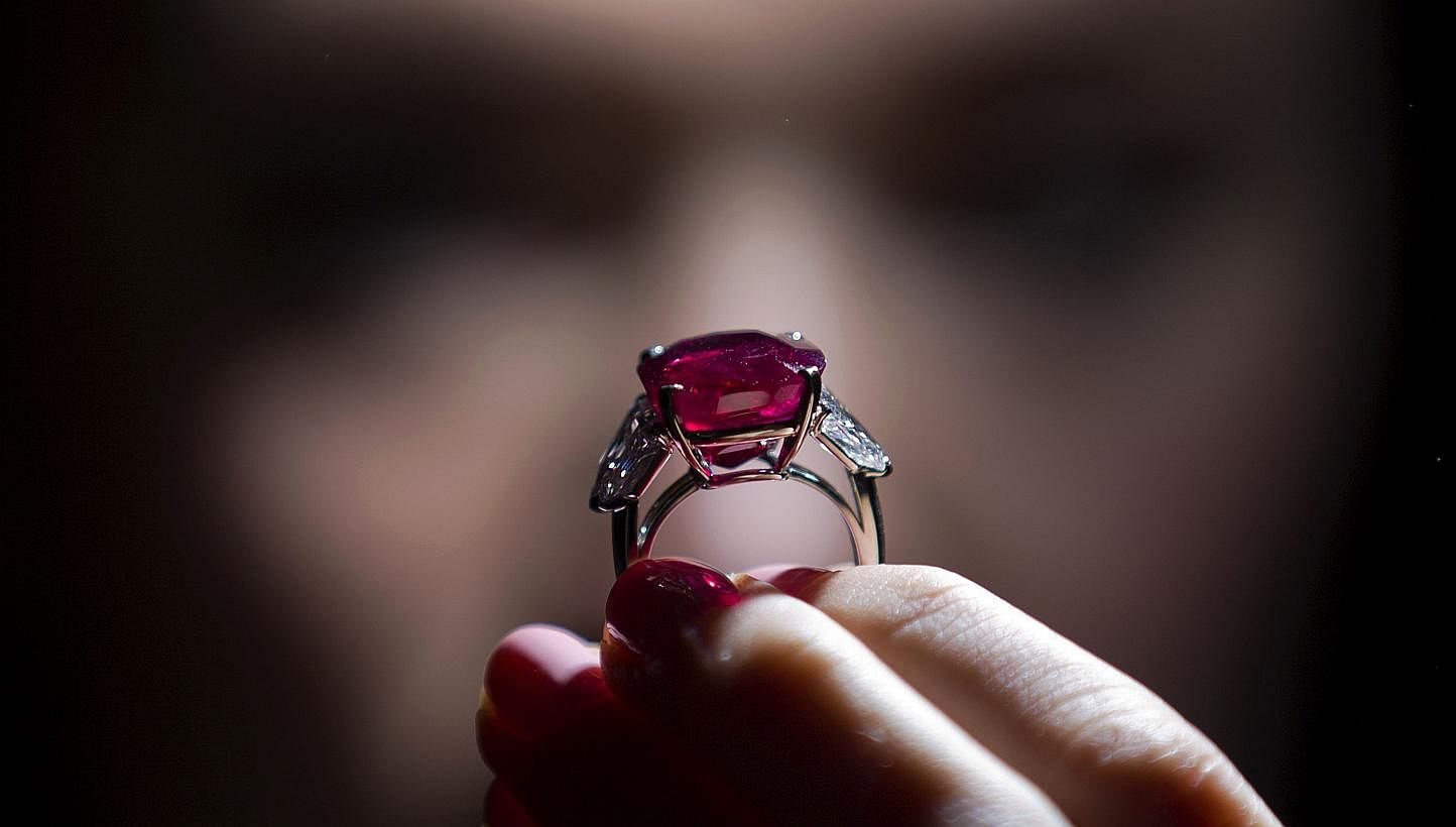 Burmese ruby sells for record $40 million at Geneva auction, Europe