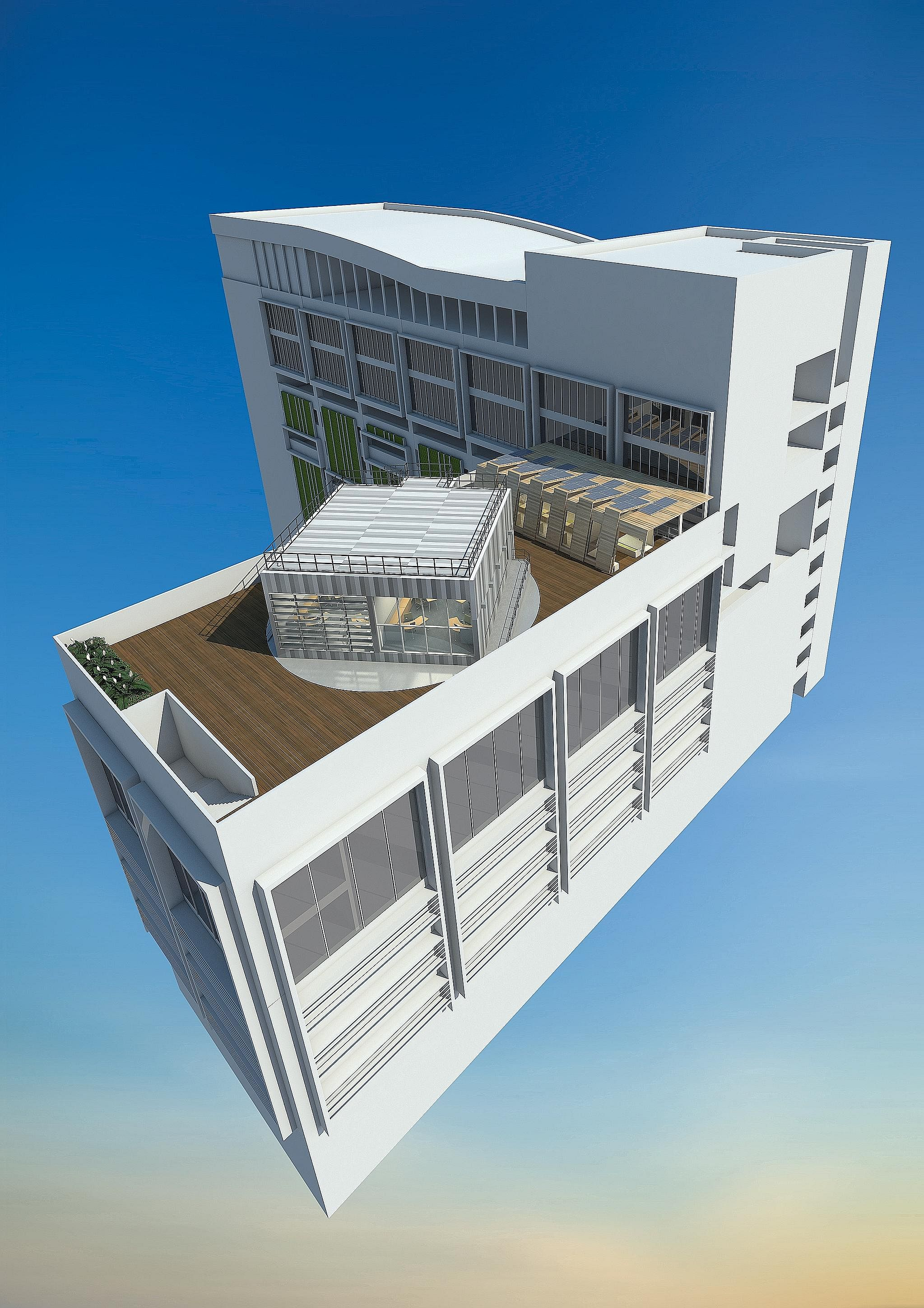 The rotating laboratory will be located on top of one of BCA's buildings at its Braddell Road premises. The BCA Skylab will be where researchers can test and develop green technology and materials.