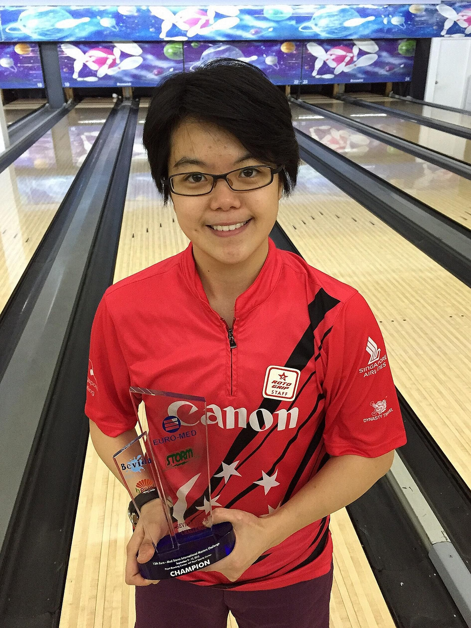 Singapore bowler Cherie Tan won the Euro-Med Storm International Masters Challenge in Manila yesterday, beating home favourite Biboy Rivera in the step-ladder final.