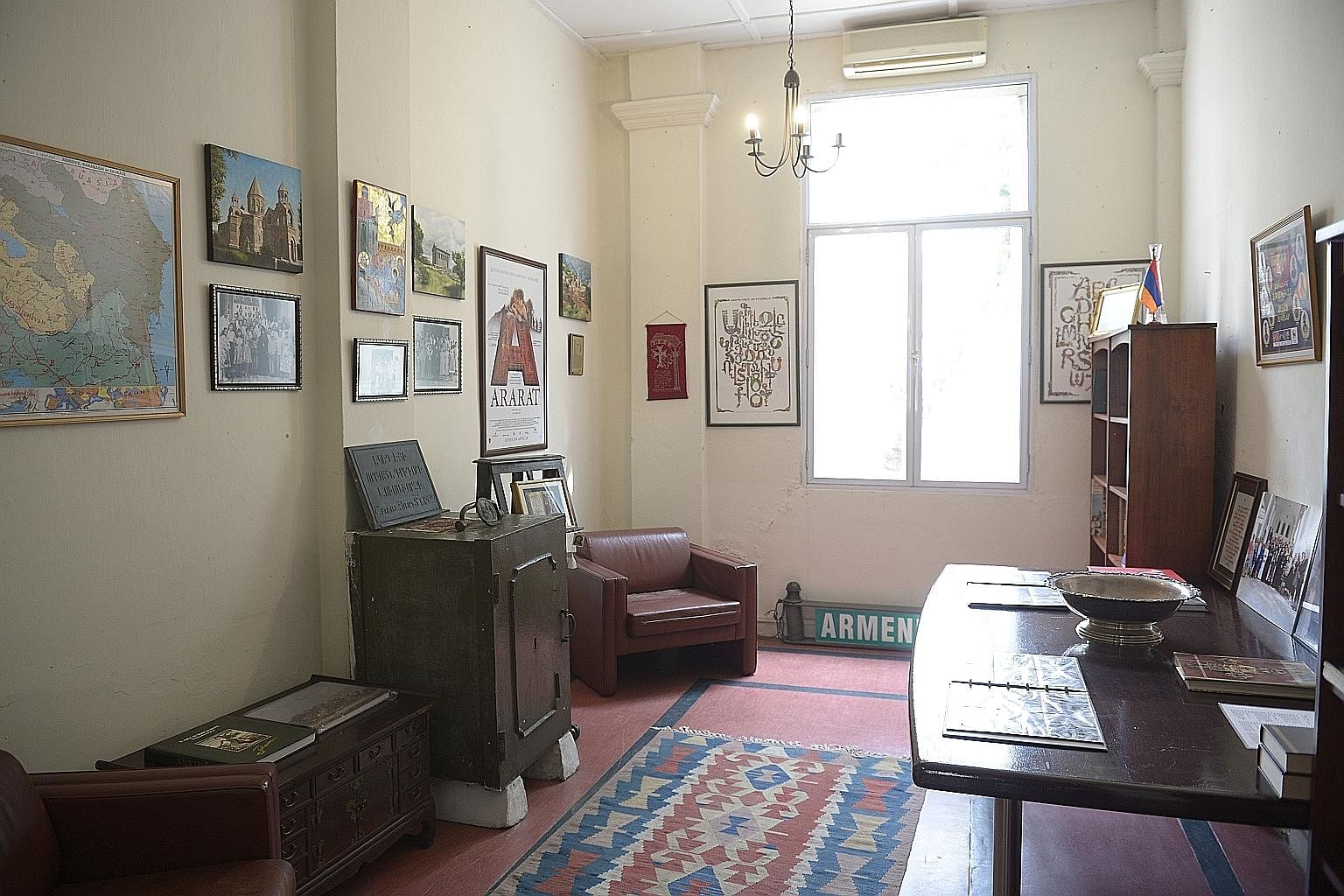 This room on the ground floor of the two-storey parsonage is chock-a-block with maps of Armenia and Armenian artefacts, and photo albums of the community here. Volunteers from the community will turn the entire building into a museum and library by next y