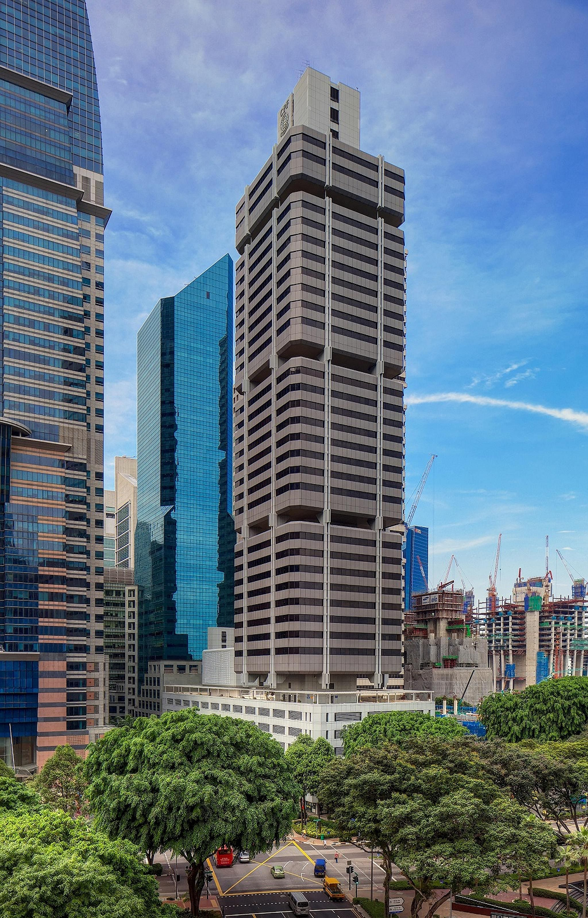 A prospective buyer could redevelop CPF Building (above) into a mixed-use development with office, retail, serviced apartments or possibly hotel, subject to approval, CBRE said.