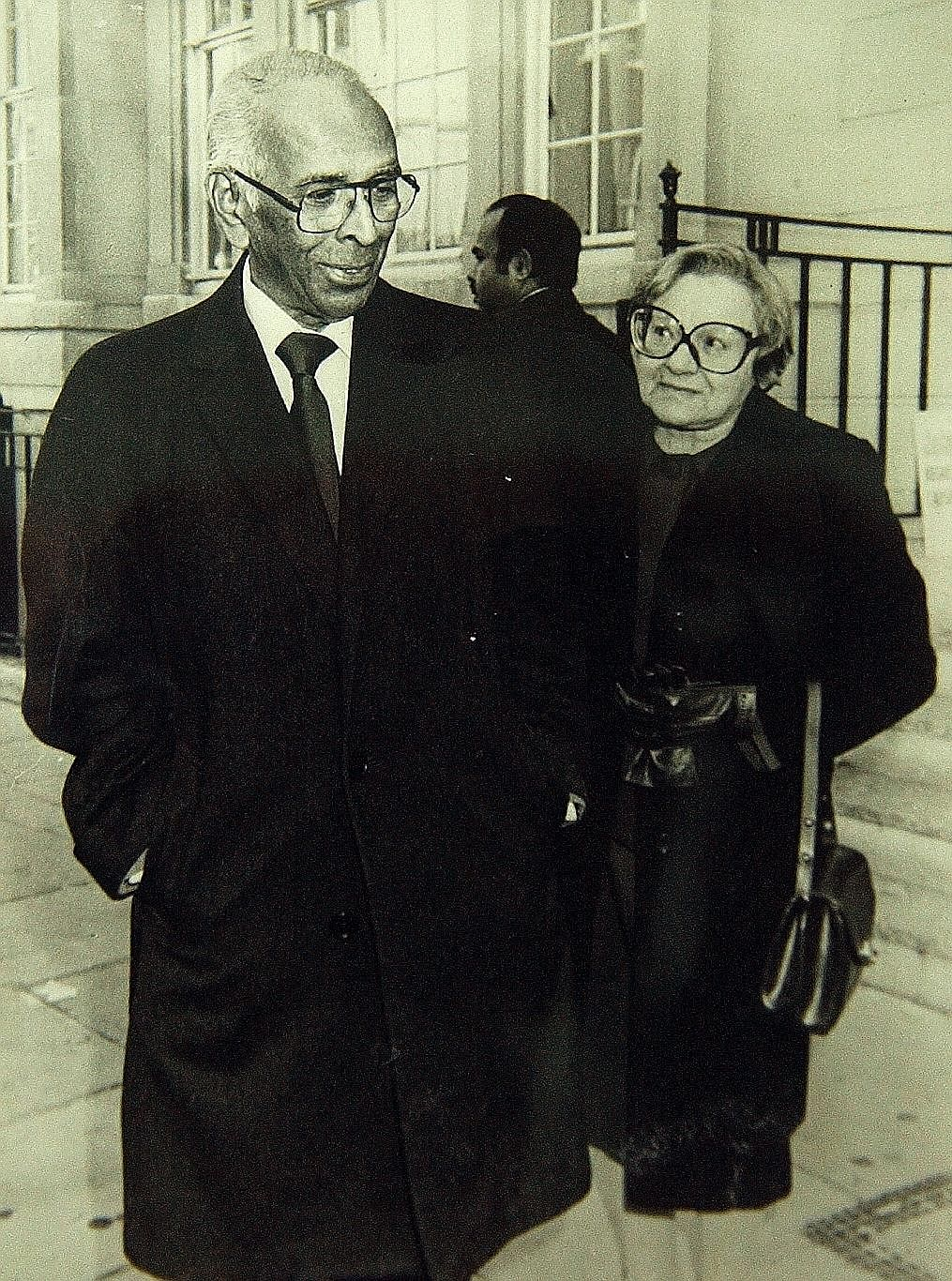 Singapore's first Minister of Foreign Affairs S. Rajaratnam and his wife Piroska. Mrs Rajaratnam, who moved to Singapore with her husband in 1948, loved her new homeland but never forgot Hungary and her Hungarian family.