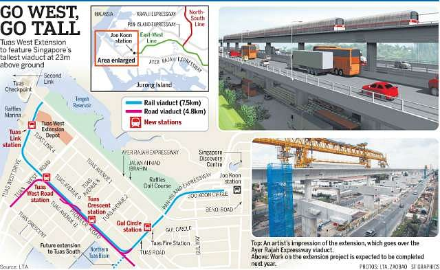Mrt Tuas West Extension To Soar Above The Ground