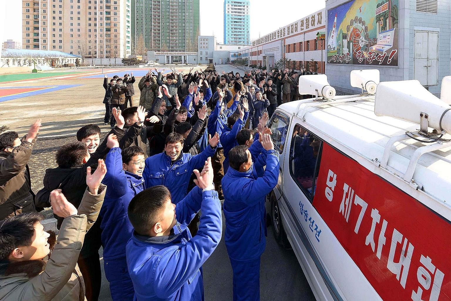 North Koreans reacting with joy to news that the country has succeeded in detonating a hydrogen bomb. The bomb test was North Korea's fourth since 2006, and independent reports of man-made seismic activity inside the country seem to confirm the claim