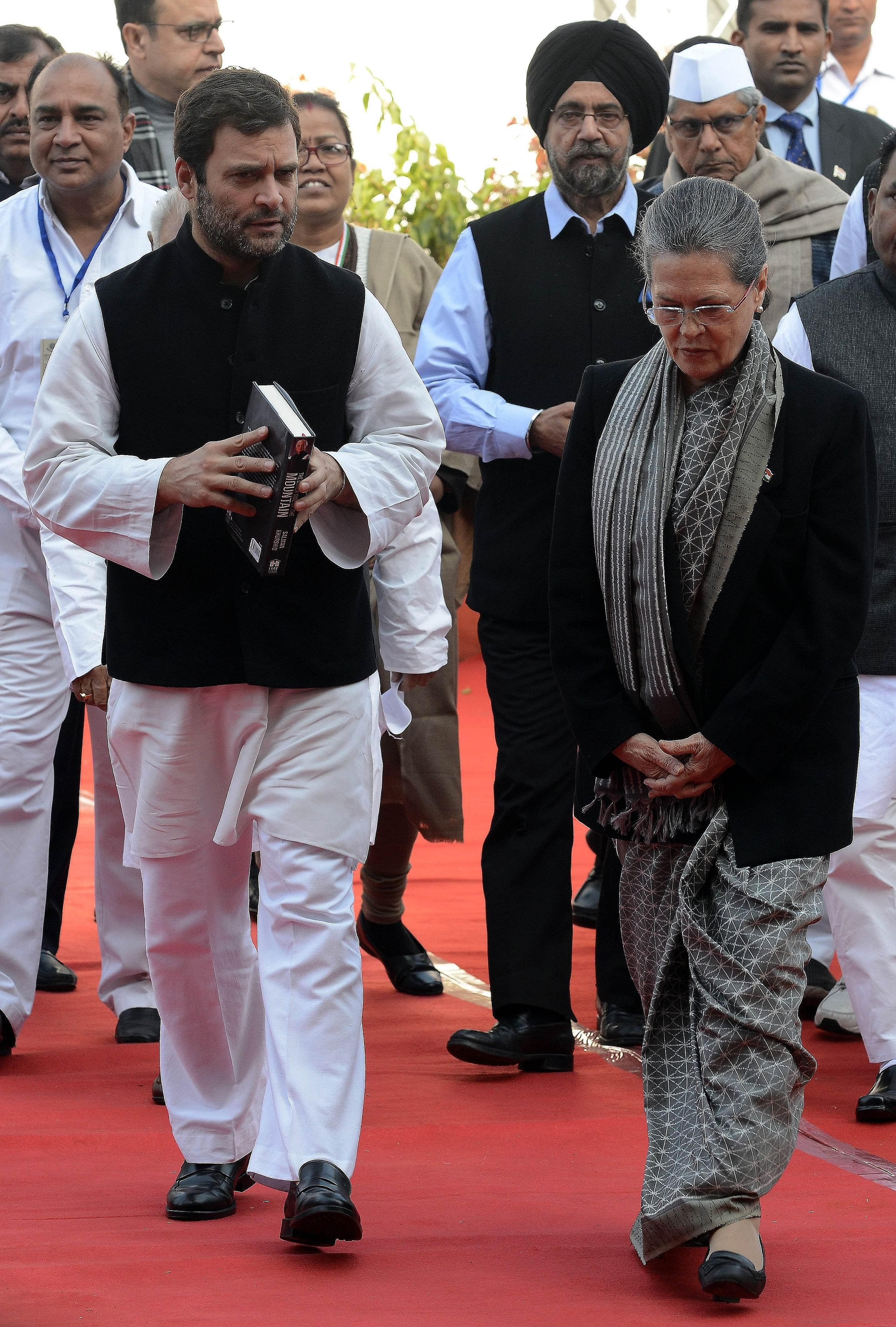 In a sign of what could be a blow to the dynastic system in India, Sonia Gandhi (left), president of the Congress party, and her son Rahul (far left), the party's vice-president, were forced to appear in court on corruption charges last month.