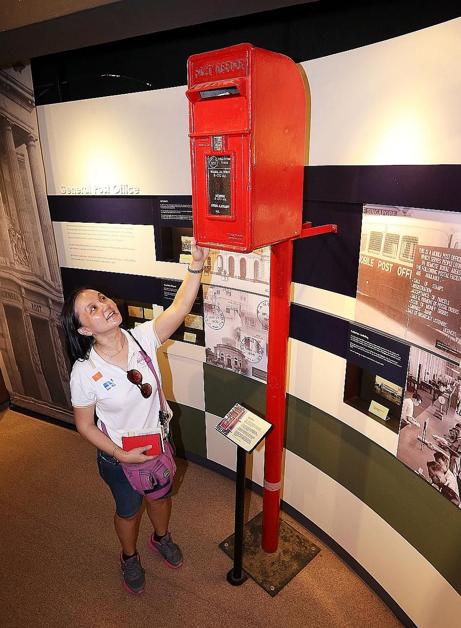 Among the places included in yesterday's Jubilee Walk tour was the Singapore Philatelic Museum.