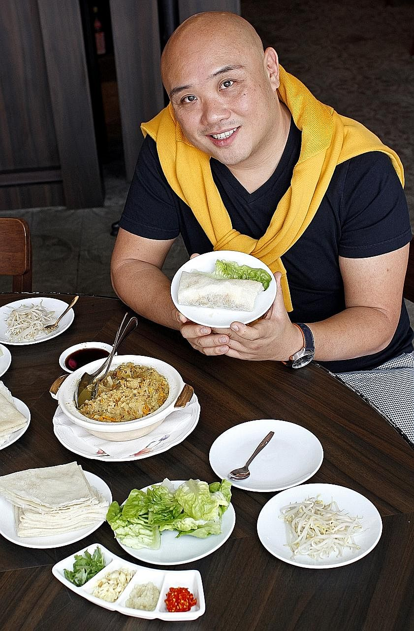 Goh Boon Teck likes the traditional Hokkien fare at Good Chance Popiah.