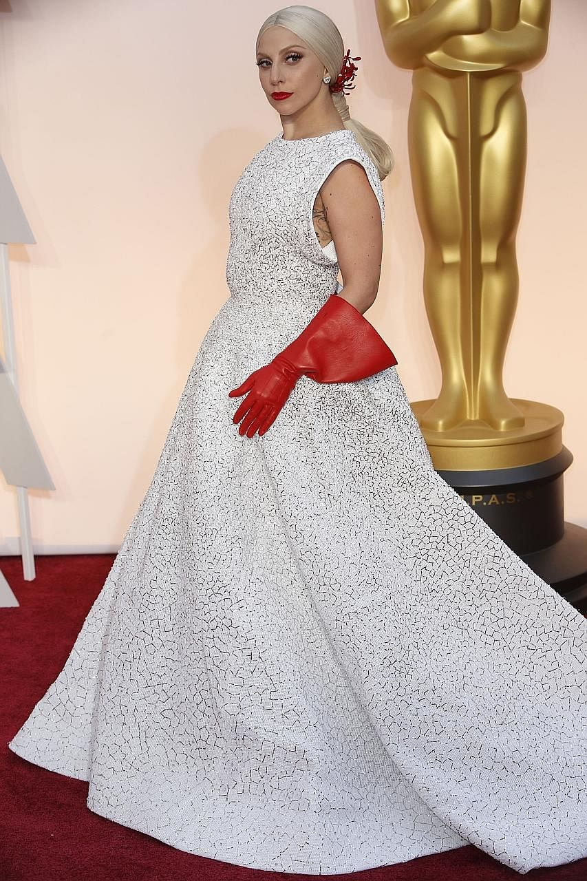 Lady Gaga at the 87th Academy Awards ceremony in Los Angeles last year.