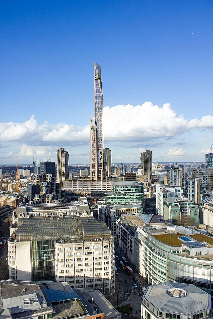 Plans for an 80-storey, 300m-high wooden tower have been submitted to the London mayor for approval. If built, the timber skyscraper would be the second-tallest building in the capital after the 95-storey Shard, which stands at 310m.