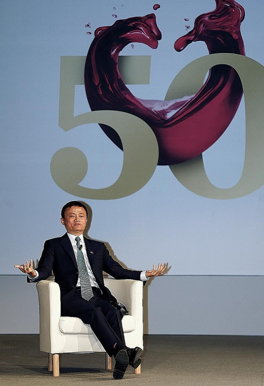 Mr Ma expanded his fortune to US$33.3 billion on Tuesday after an Alibaba affiliate raised a record amount in a round of fund raising. He is now ahead of Dalian Wanda Group's Wang Jianlin and Hong Kong's Li Ka Shing.