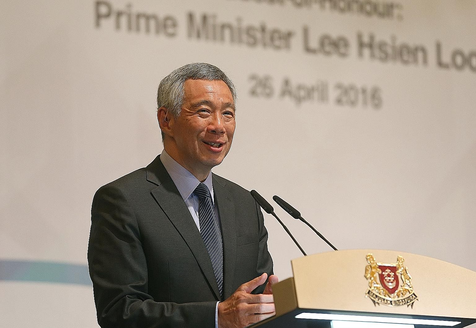 PM Lee says the Singapore system with two clear streams - political leaders on one side and civil servants on the other - has generally worked well, and one reason is that both sides share fundamental values and goals that guide their thinking and mo