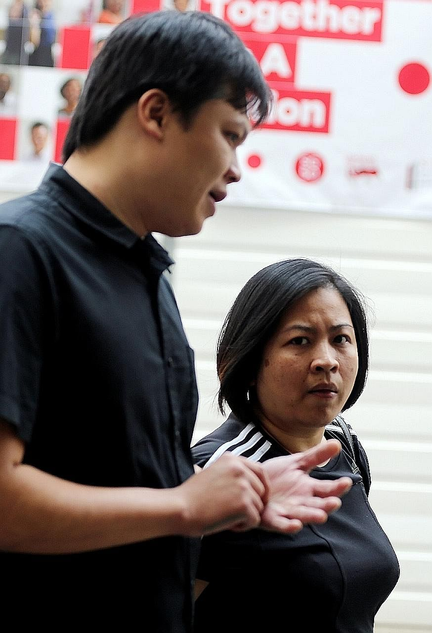 Quek Choon Leong (left) was jailed for two years and nine months. His wife Huynh Thi Kieu Trang, who is serving a 29-month jail sentence, was brought back to court to face nine more charges.