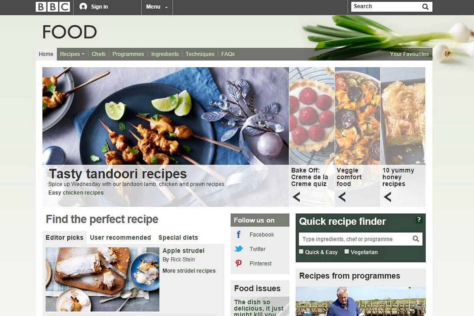 From fish curry to chocolate cake 10 all time favourite bbc online from fish curry to chocolate cake 10 all time favourite bbc online recipes food news top stories the straits times forumfinder Image collections