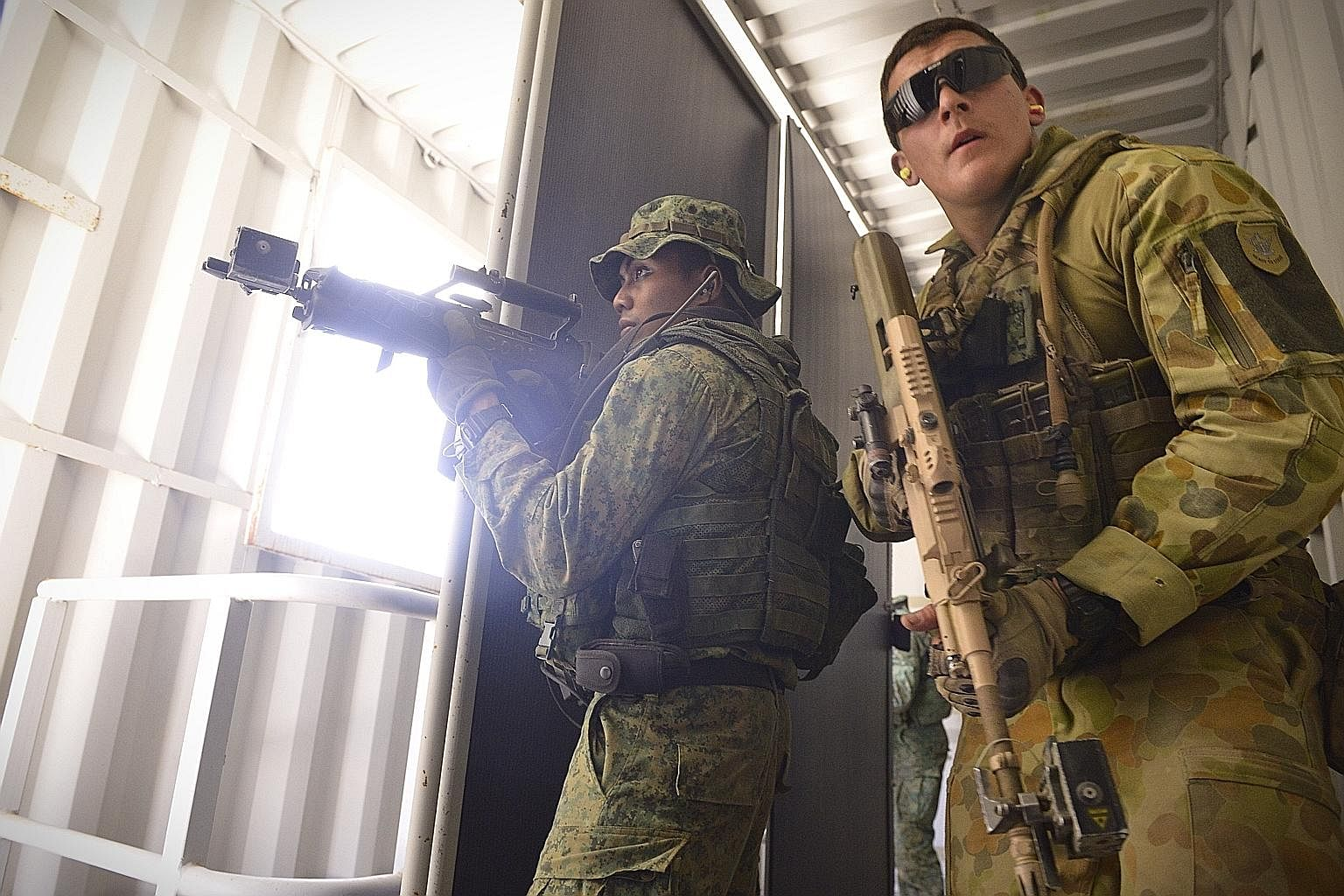 A joint Singapore and Australia armed forces exercise in Australia in 2014. The two armed forces have exercised together for decades, breeding familiarity and transparency across doctrines and operational concepts. Under the Comprehensive Strategic P