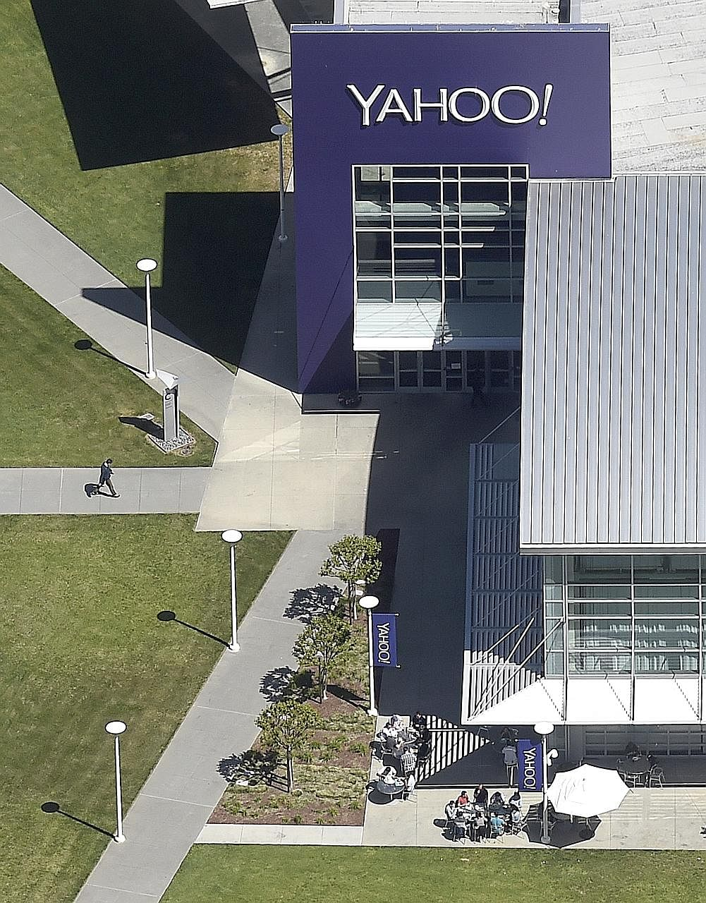The Yahoo campus in Sunnyvale, California. Yahoo, which has been eclipsed by rivals such as Google and Facebook, is considering a sale as it pursues efforts to revive growth, focusing on mobile users.
