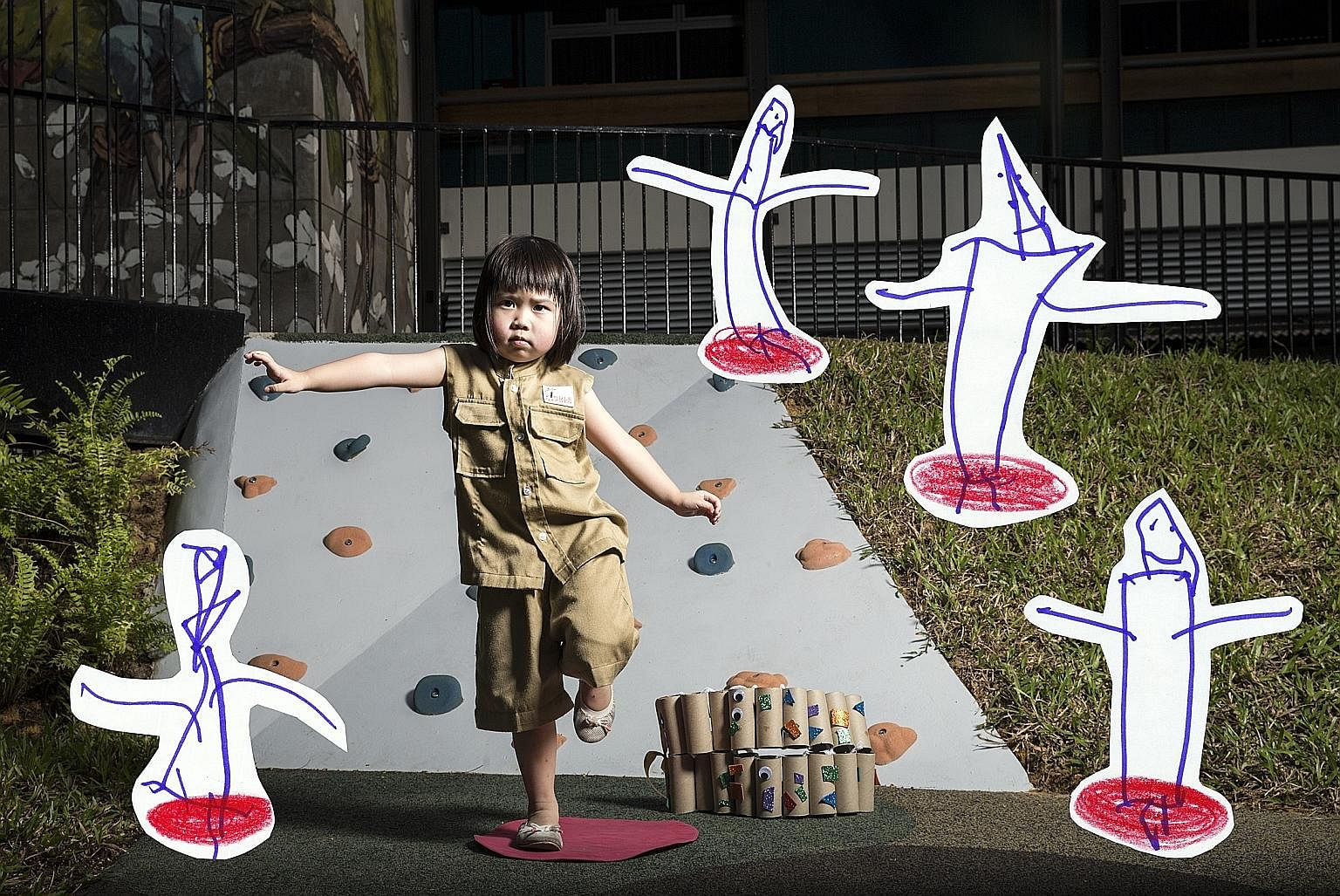 Rinn Chan, four, from Kindle Garden, is a participant of Superhero Me, a community arts movement.