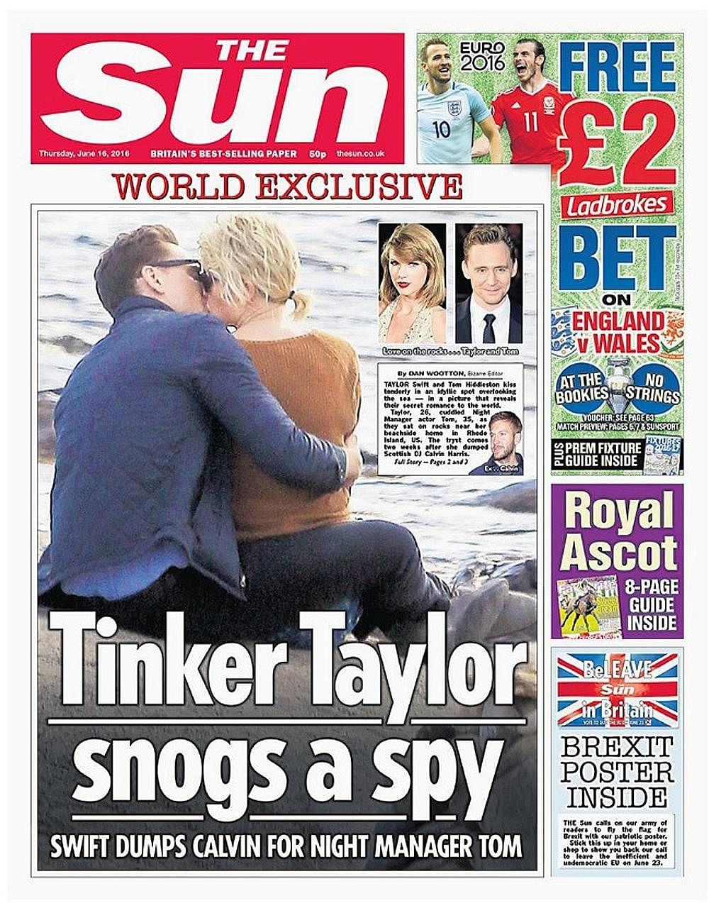 The Web has been flooded with photos of Taylor Swift with Tom Hiddleston since The Sun released photos of them two weeks ago.