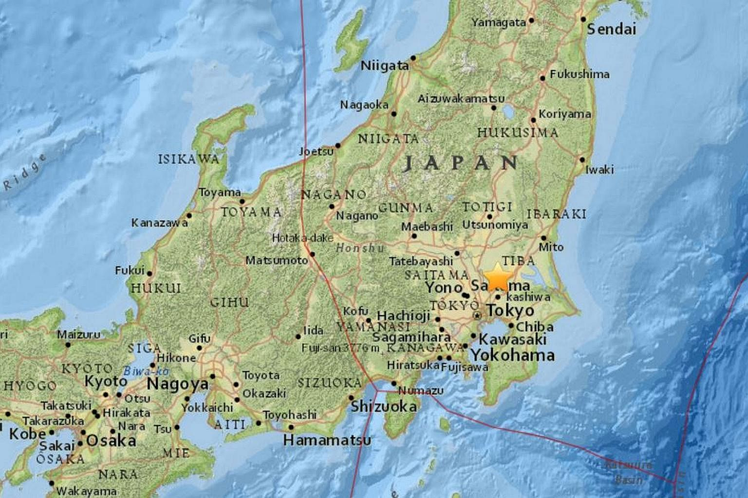 Magnitude 5 earthquake shakes buildings in Tokyo, East Asia