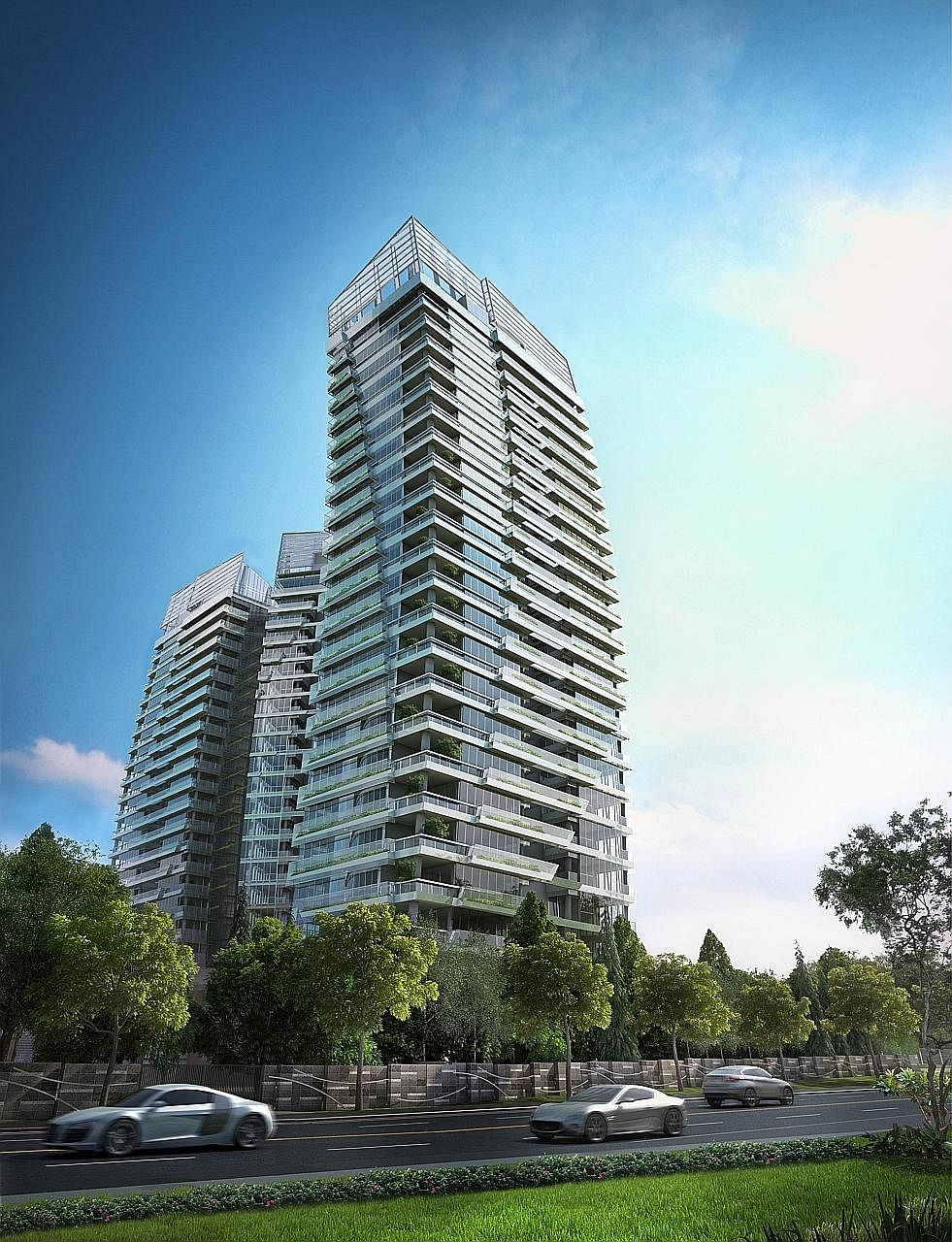An artist's impression of Gramercy Park, a CDL freehold project in Grange Road. Even though it has not been officially launched, it has already sold 30 units at an average of about $2,600 psf.