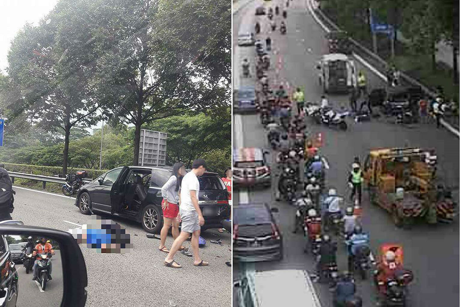 Motorcyclist  Killed In Accident On Bke Singapore News Top Stories The Straits Times