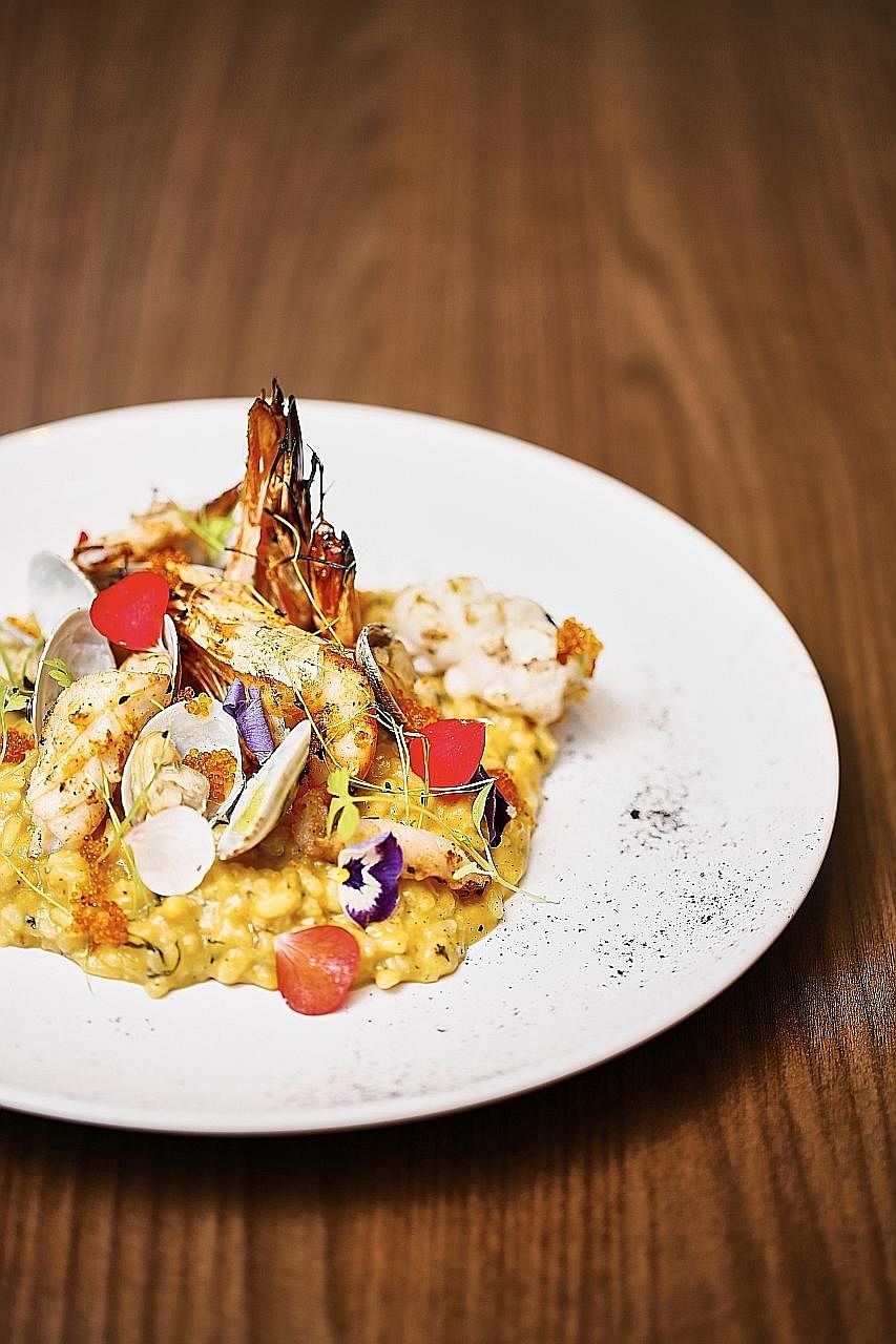 Seafood tom yam risotto, a favourite at Froth.