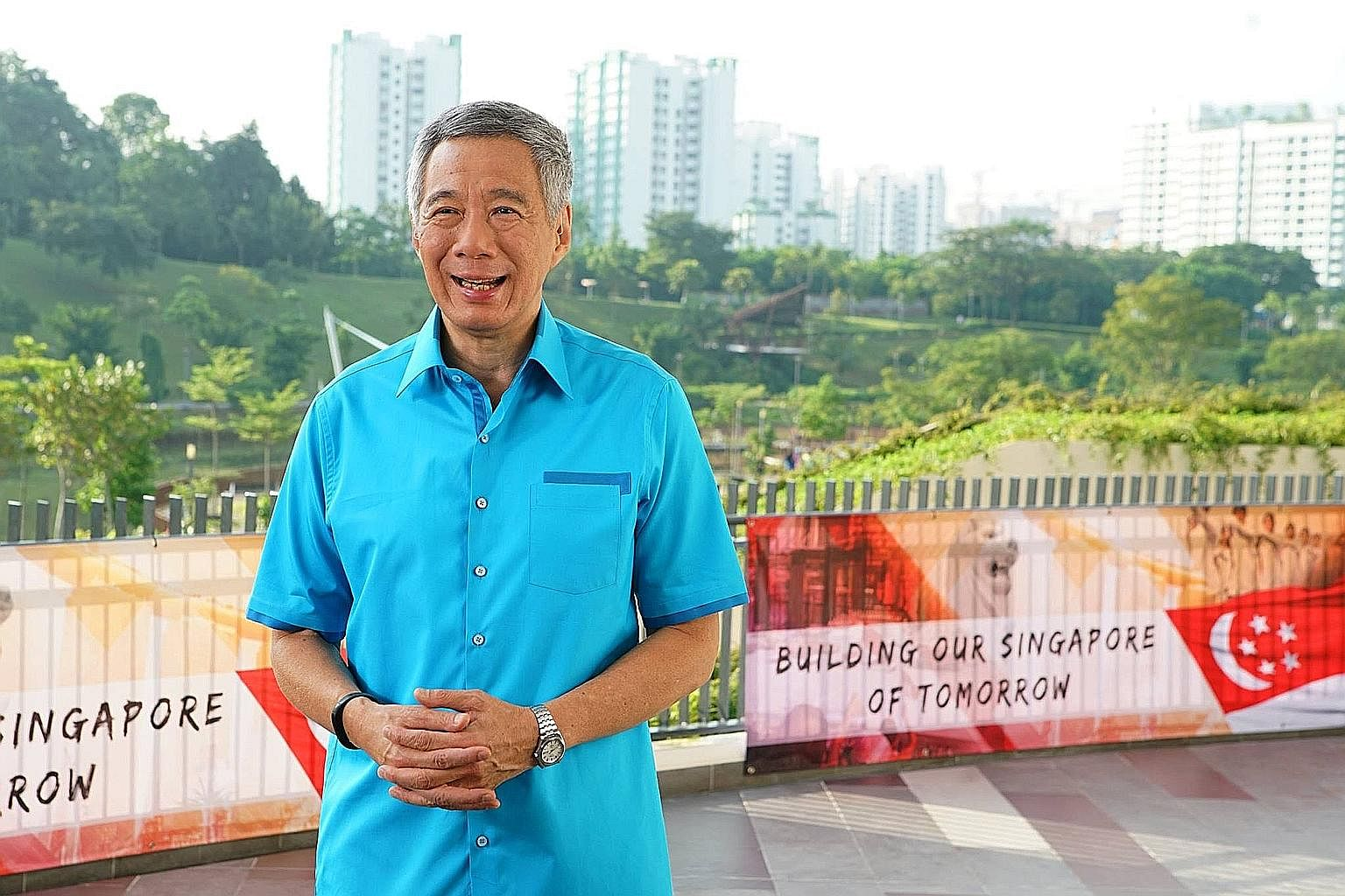 "Unity ""is more than a warm, fuzzy feeling"", says PM Lee, delivering his National Day message from Safra's new Punggol clubhouse. ""It's the iron resolve to hold together, despite the challenges, despite the sacrifices we have to make."""