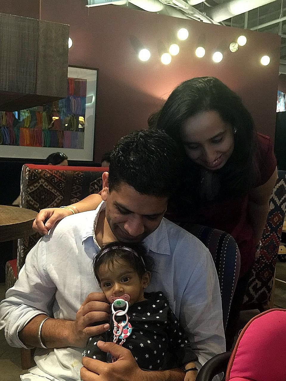 Eight-month-old Zarouhi is fighting for her life at NUH. Her father, Mr Sandeep, donated part of his liver but the transplant failed. Her mother, Ms Wilson, is being assessed for suitability but the couple are looking for a standby donor in case she