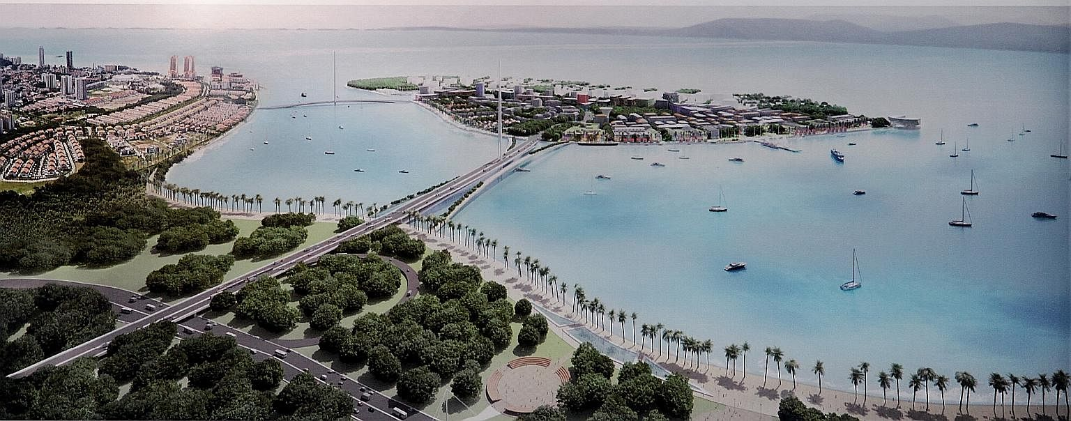 An artist's impression of the project along Penang island's Gurney Drive.