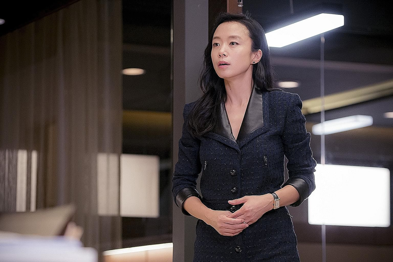 Jeon Do Yeon (right) is a wronged wife turned lawyer in the Korean remake of The Good Wife.