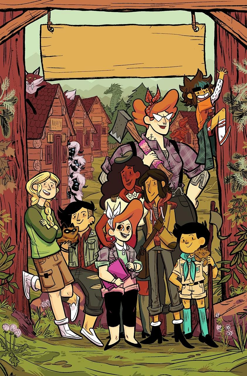 Artwork from the Lumberjanes comics (above) by artist Brooke Allen. She will make a guest appearance at the Singapore Toy, Game & Comic Convention.