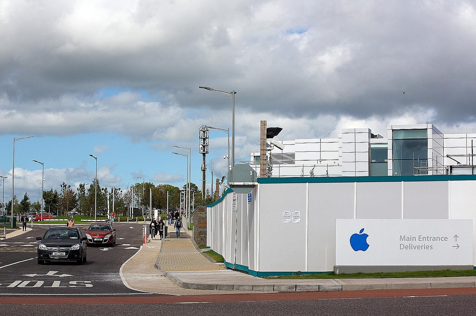 Apple's campus in Cork, Ireland. The global giant had been attributing billions of dollars in profits to a phantom head office in Ireland, allowing it to pay a tax rate of 1 per cent or lower.