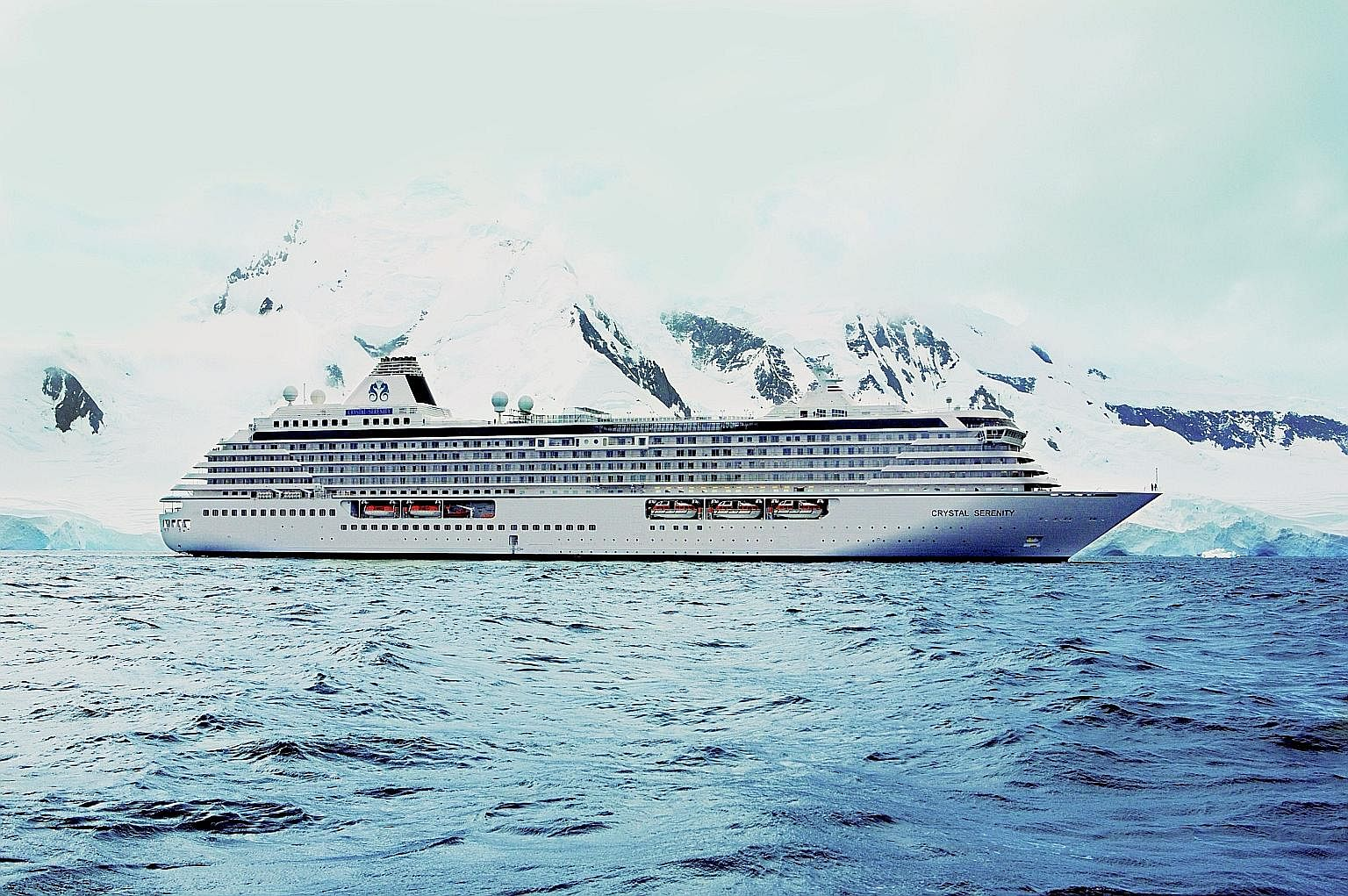 The Crystal Serenity was the first passenger ship of its size to sail the Northwest Passage.