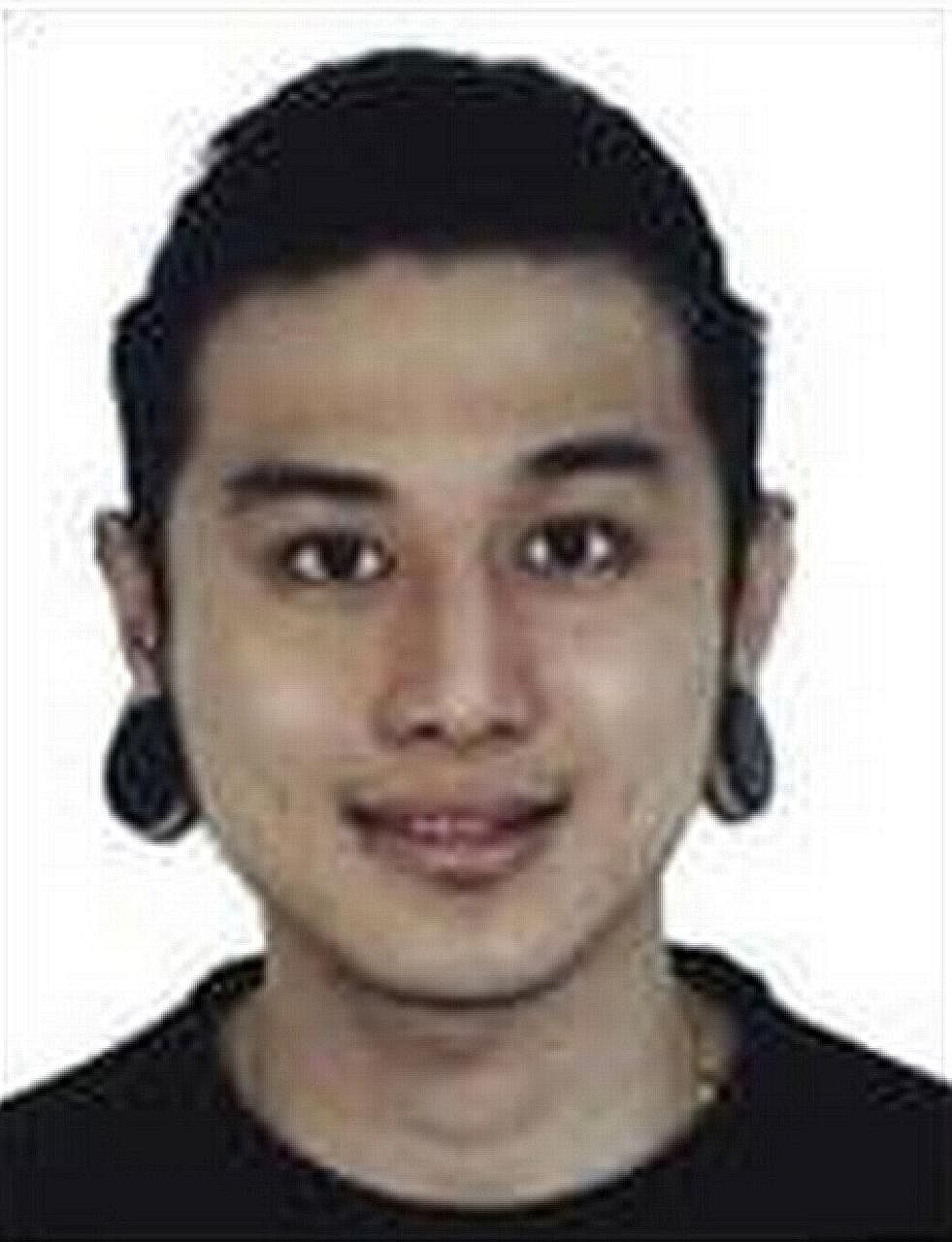 Police are seeking information on where a fifth person in the incident, Daryl Tay Kai Long (left), can be found.