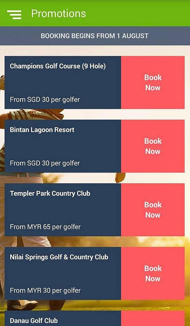Green Golf, a golf booking app, has added Champions Golf Course to its list. This is its first Singapore course on its roster, and there are plans to add more local courses soon.