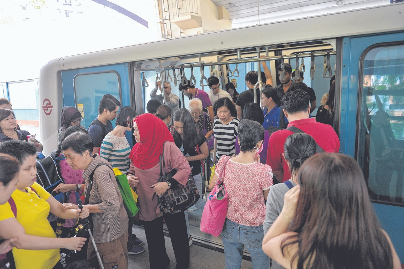 SMRT suspended services on the 17-year-old Bukit Panjang LRT line yesterday to do a thorough check.