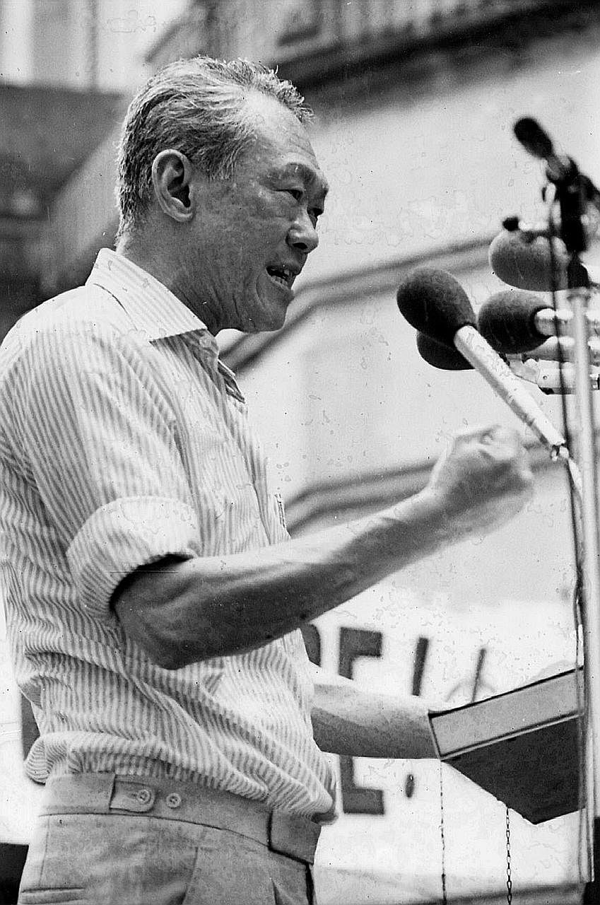 The late Mr Lee in a 1980 photo. His estate's executors, Dr Lee Wei Ling and Mr Lee Hsien Yang, claimed that it was entitled to use and have copies of the transcripts as it held the copyright after Mr Lee's death. The oral history was recorded betwee